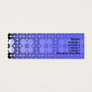 Schwarzweiss-Kräuselungen klein Mini Visitenkarte