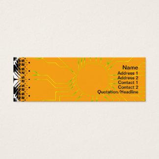 Schwarzweiss-Kräuselungs-großes umgewandelt Mini Visitenkarte