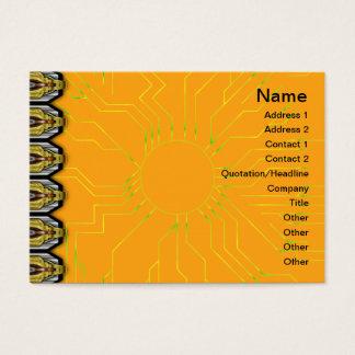 Schwarzweiss-Kräuselungs-großes umgewandelt Visitenkarte