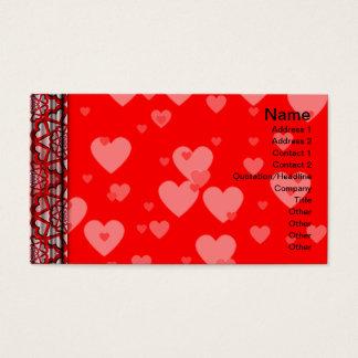 Schwarzweiss-Kräuselungs-kleines umgewandelt Visitenkarte