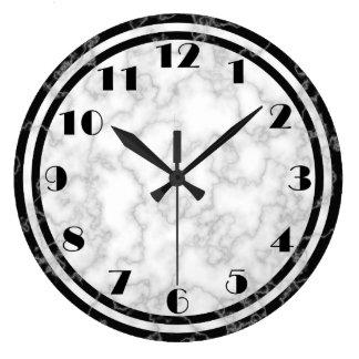 Schwarzweiss-Kunst-Deko-Uhr Große Wanduhr