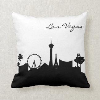 Schwarzweiss-Las Vegas-Skyline Kissen