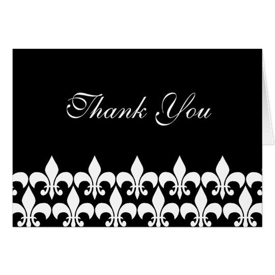 Schwarzweiss-Lilie danken Ihnen Karte