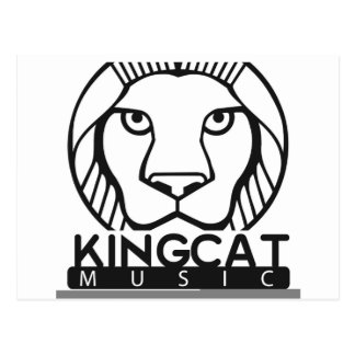 Schwarzweiss-Logo König-Cat Music Postkarte