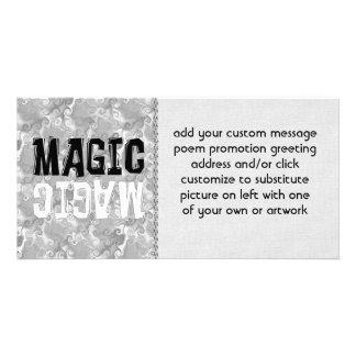 Schwarzweiss-Magie Individuelle Fotokarten