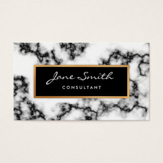 Schwarzweiss-Marmor, Imitat-Goldfolie Visitenkarte