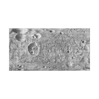 Schwarzweiss-Mond der Mars Phobos Leinwanddruck