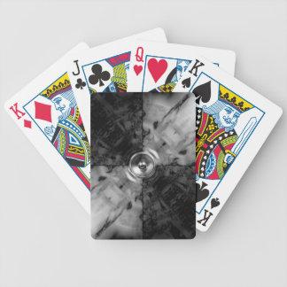 Schwarzweiss-Musik-Lautsprecher Bicycle Spielkarten