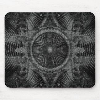 Schwarzweiss-Musik-Lautsprecher Mousepad