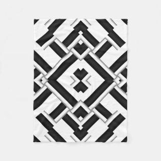 Schwarzweiss-Muster Fleecedecke