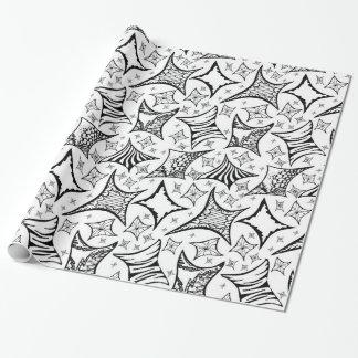 Schwarzweiss-Muster Geschenkpapier