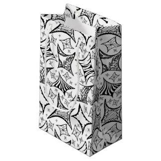 Schwarzweiss-Muster Kleine Geschenktüte