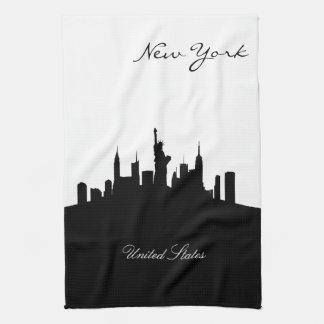 Schwarzweiss-New- YorkSkyline Handtuch