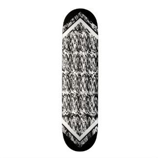 Schwarzweiss-Öl-Muster-kundengerechte Plattform 1 Individuelle Skateboards