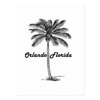 Schwarzweiss-Orlando- u. Palmenentwurf Postkarte