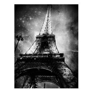 Schwarzweiss-Paris-Postkarte, der Eiffelturm Postkarte