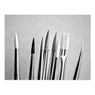Schwarzweiss-Pinselentwurf Postkarten