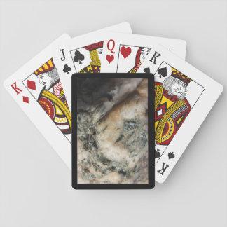 Schwarzweiss-Quarz-Mineral-Beschaffenheit Spielkarten