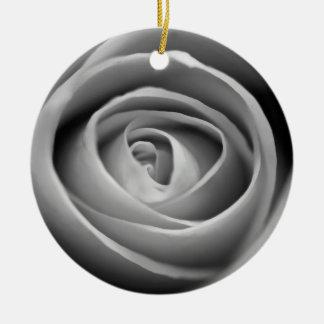 Schwarzweiss-Rosen-Verzierung Keramik Ornament
