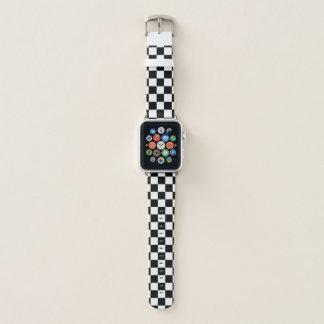 Schwarzweiss-Schachbrett Apple Watch Armband