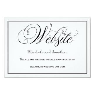 Schwarzweiss-Skript-Hochzeits-Website-Karte 8,9 X 12,7 Cm Einladungskarte