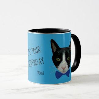 Schwarzweiss-Smokings-Katze - sie ist Ihr Tasse