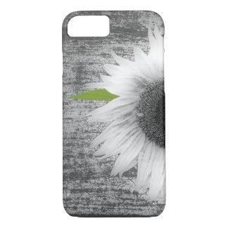 Schwarzweiss-Sonnenblume iPhone 8/7 Hülle
