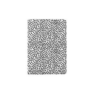 Schwarzweiss-Tinten-Punkt-Muster Passhülle