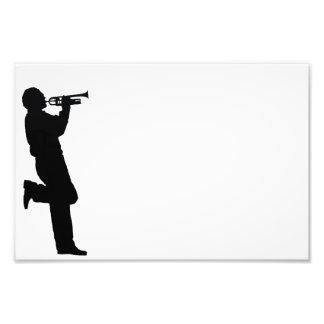 Schwarzweiss-Trompete-Jazz-Musiker Photo Drucke
