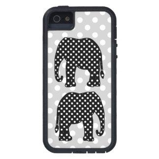 Schwarzweiss-Tupfen-Elefant Schutzhülle Fürs iPhone 5