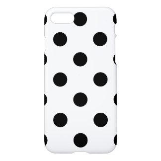 Schwarzweiss-Tupfen-Muster iPhone 7 Hülle