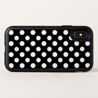 Schwarzweiss-Tupfen-Muster iPhone X Kasten OtterBox Symmetry iPhone X Hülle