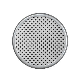 Schwarzweiss-Tupfen-Muster Lautspercher