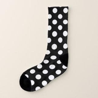 Schwarzweiss-Tupfen-Muster-Socken Socken