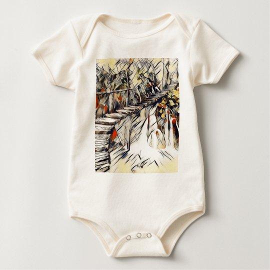 Schwarzweiss-- und Malerei Baby Strampler