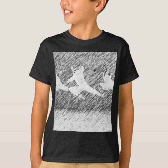 Schwarzweiss-- und Malerei T-Shirt