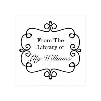 Schwarzweiss von der Bibliothek des Buchzeichens Gummistempel