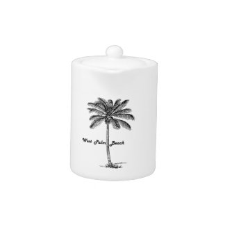 Schwarzweiss-West- Palm Beach u. Palmenentwurf