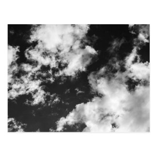 Schwarzweiss-wolkiges Wetter Postkarte