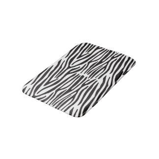 Schwarzweiss-Zebra-Druck-Bad-Matte Badematte