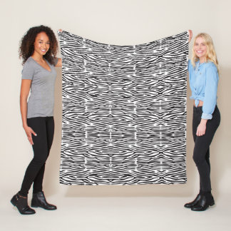 Schwarzweiss-Zebra-Druck-Fleece-Decke Fleecedecke