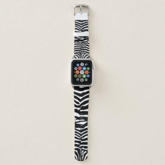 Schwarzweiss-Zebra-gestreiftes Muster Apple Watch Armband