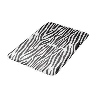 Schwarzweiss-Zebra-mittlere Bad-Matte Badematte