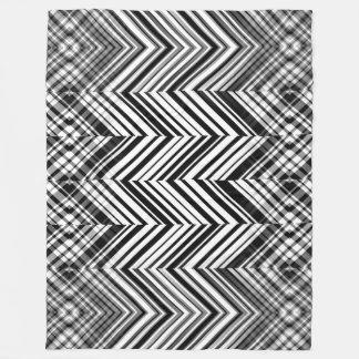 Schwarzweiss-Zickzack-Fleece-Decke Fleecedecke