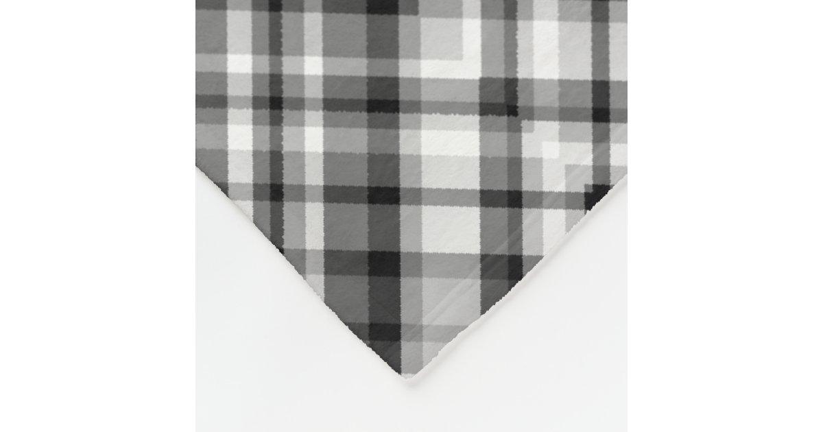 schwarzweiss zickzack fleece decke fleecedecke zazzle. Black Bedroom Furniture Sets. Home Design Ideas