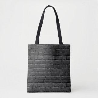 Schwarzweiss-Ziegelstein-Tasche Tasche