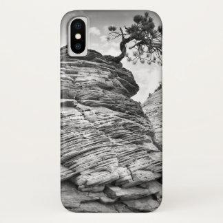 Schwarzweiss-Zion Bonsais-Baum iPhone X Hülle