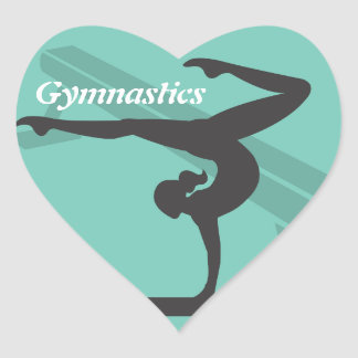 Schwebebalken-Gymnastik-Aufkleber Herz-Aufkleber