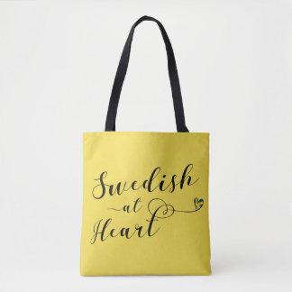 Schwede an der Herz-Einkaufstüte Tasche