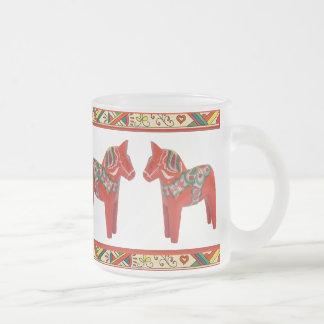 Schwede Dala Pferde mit Mattglastasse